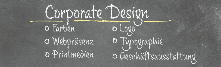 Kreidetafel - Corporate Design