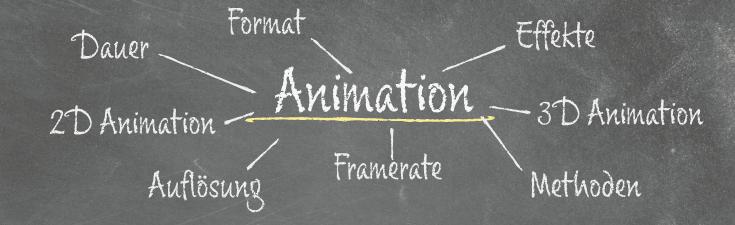Kreidetafel - Animation