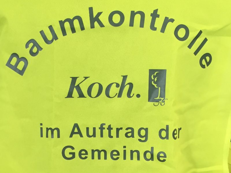 Koch, Warnweste - Txtildruck