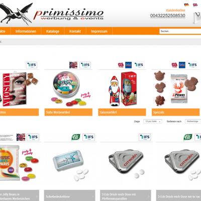 Süße Werbung, Onlineshop für personalisierte Süßigkeiten