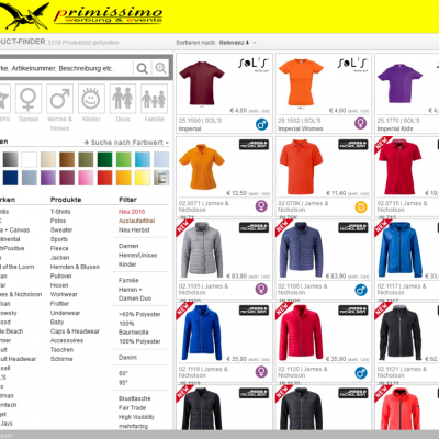 textileworld, Onlineshop für Textilien